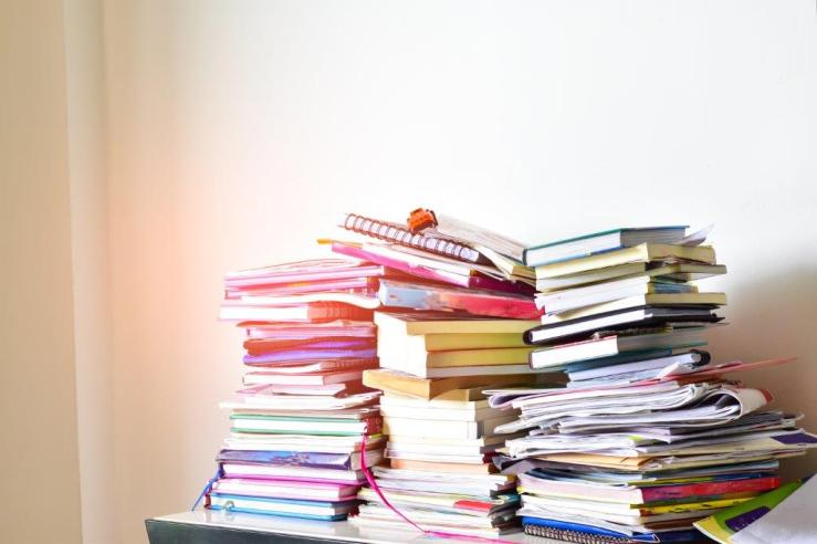 Clutter Stack of books shutterstock_1056850982