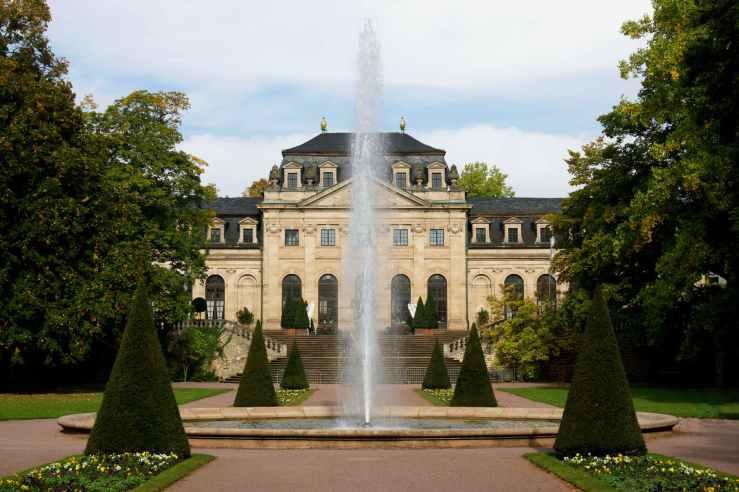 park historical castle fountain