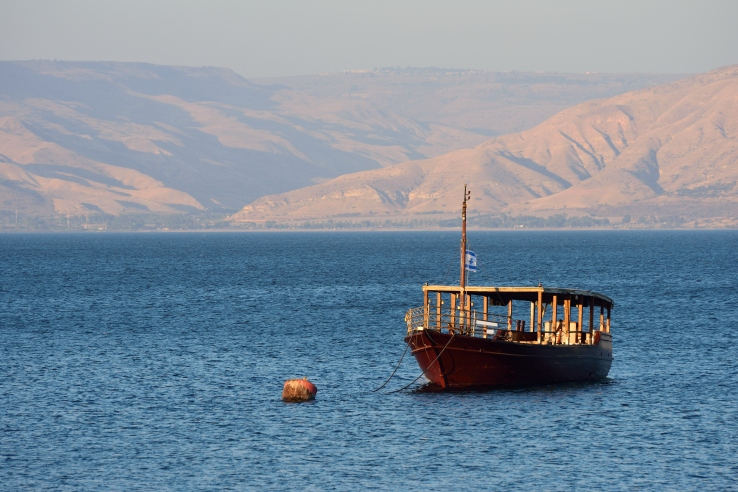 Sea of Galilee boat shutterstock_483356410
